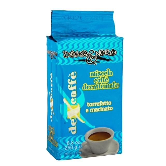 ITALIAN DECAFFEINATED ESPRESSO GROUND COFFEE DEX 250 gr