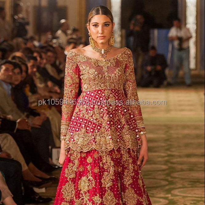 Latest Pakistani Bridal Dresses Peplum Style Bridal Dresses Red Bridal Dresses Buy Pakistani Frocks Style Dresses Indian Pakistani Bridal Dresses New Style Pakistani New Style Dresses Product On Alibaba Com,Wedding Dresses With Long Trains And Sleeves