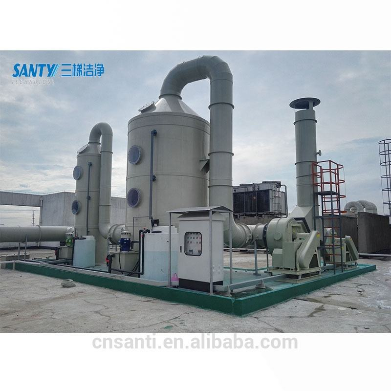 industrial exhaust gas absorption scrubber tower