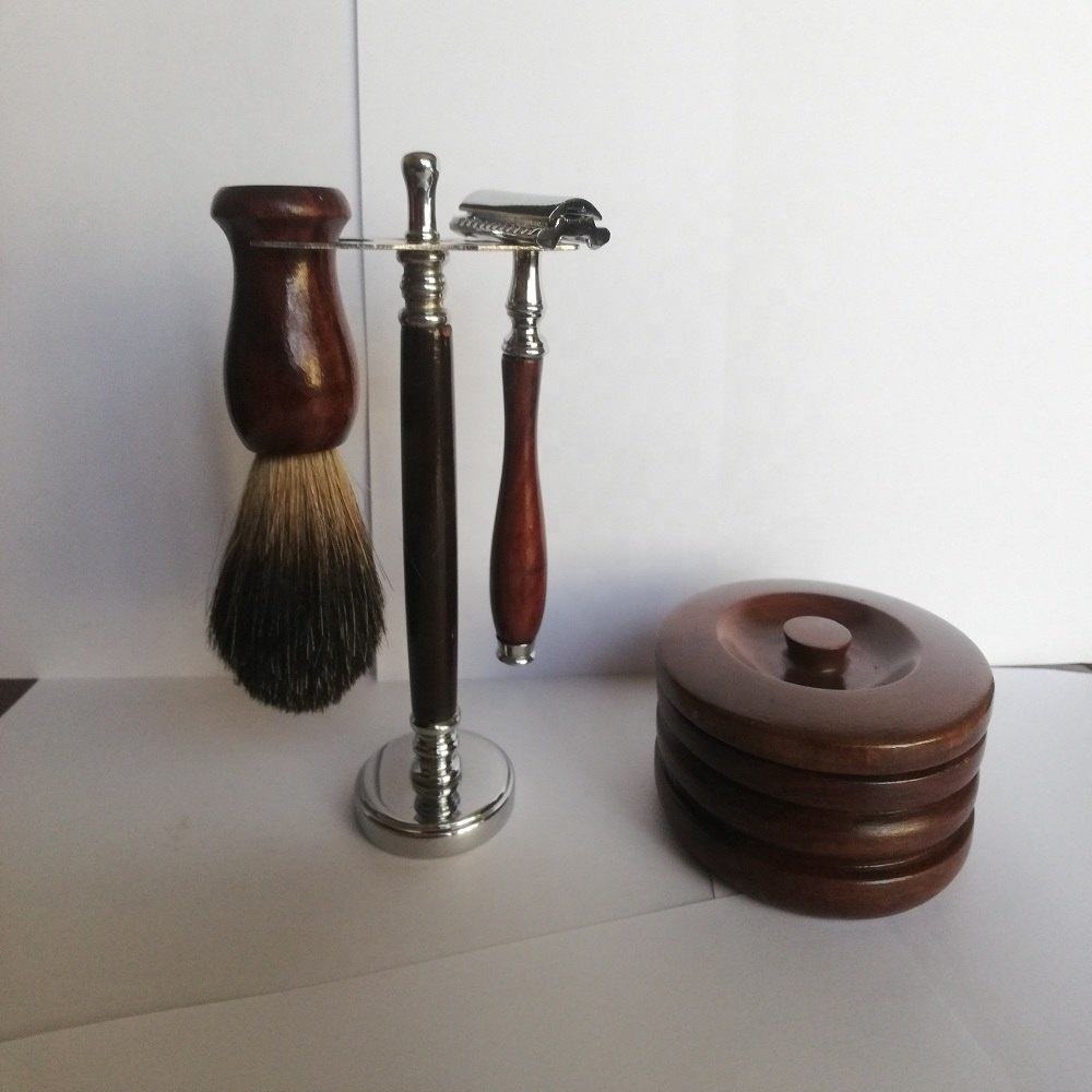 Best Selling Shaving Brush With Shaving Stand, Men's Grooming Shaving Set