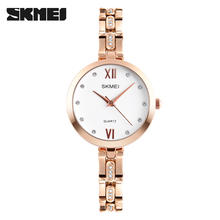fashion alloy strap jewellery watch skmei woman montre femme