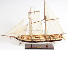 Wooden model ship Lynx Painted L80 cm - Vietnam handmade high quality