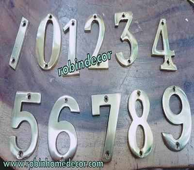 "Decorlux 4/"" Solid Brass House Number 3 in ANTIQUE COPPER NEW!"