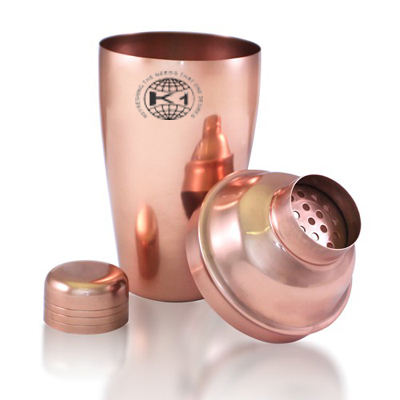 Copper Stainless Steel Cocktail Shaker, Metal Stainless Steel Cocktail
