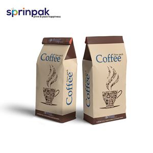 Three side seal standup pouch for coffee packaging