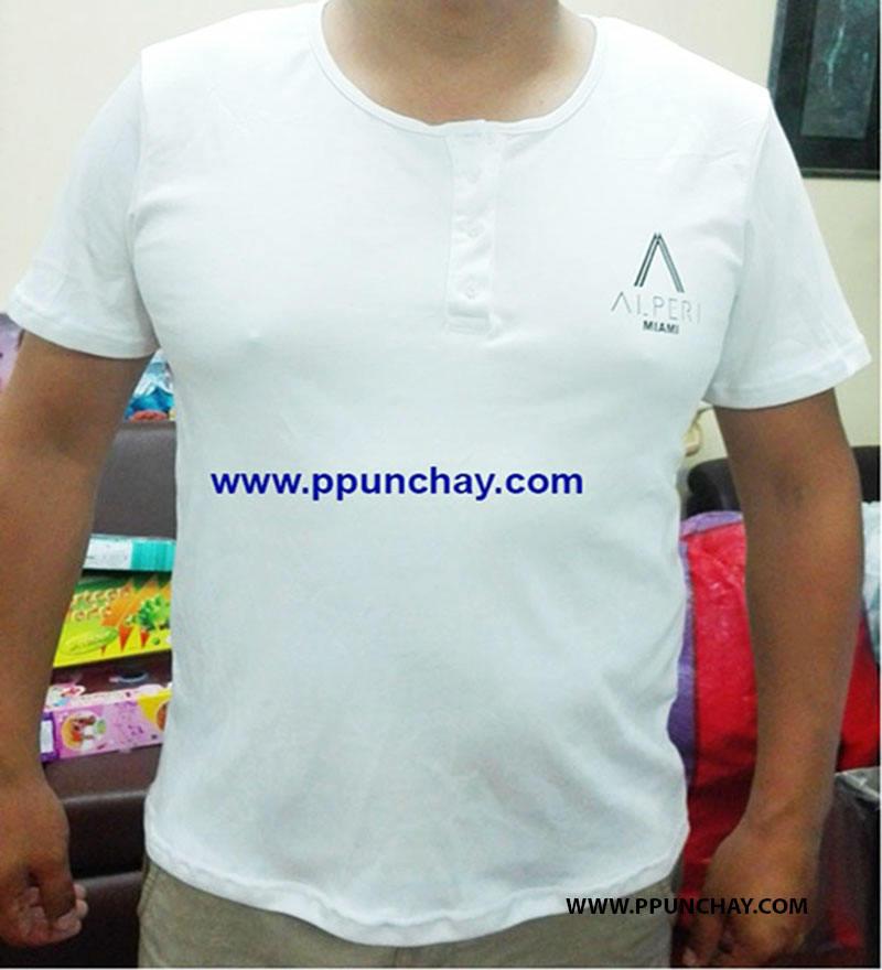 T Shirt Men in Organic Pima Cotton Ppunchay Peru A Quality Crew Neck