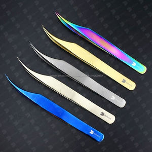 Belle 5 titane enduit de couleur étiquette privée extension de cils pince à épiler pour les professionnels par Delwyn Pakistan