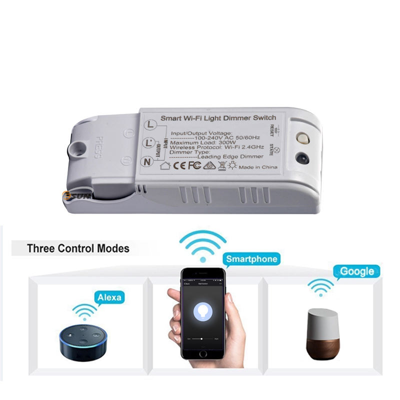 Tuya LED Dimmer Driver untuk AC100-240V Input Indoor Dimmable LED Light