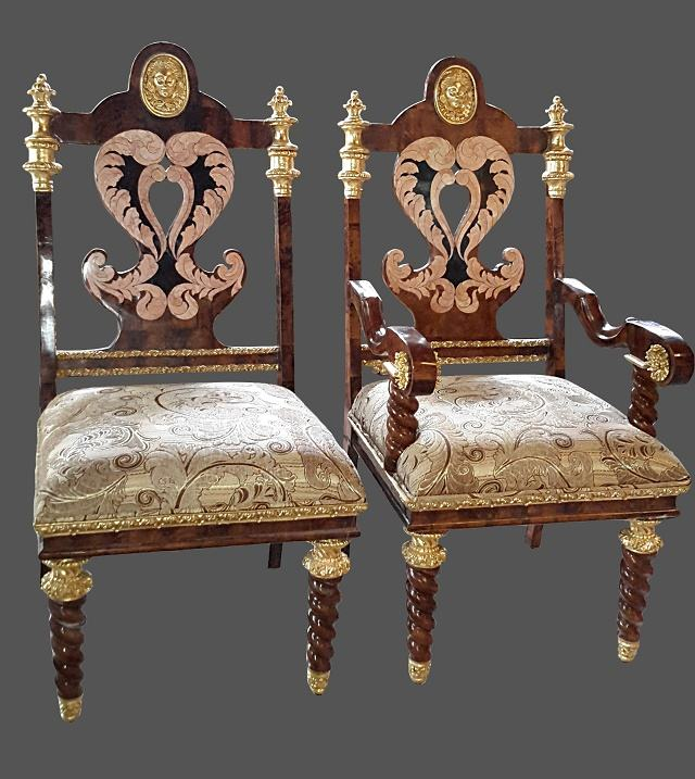 Wooden Inlaid Dining Chair