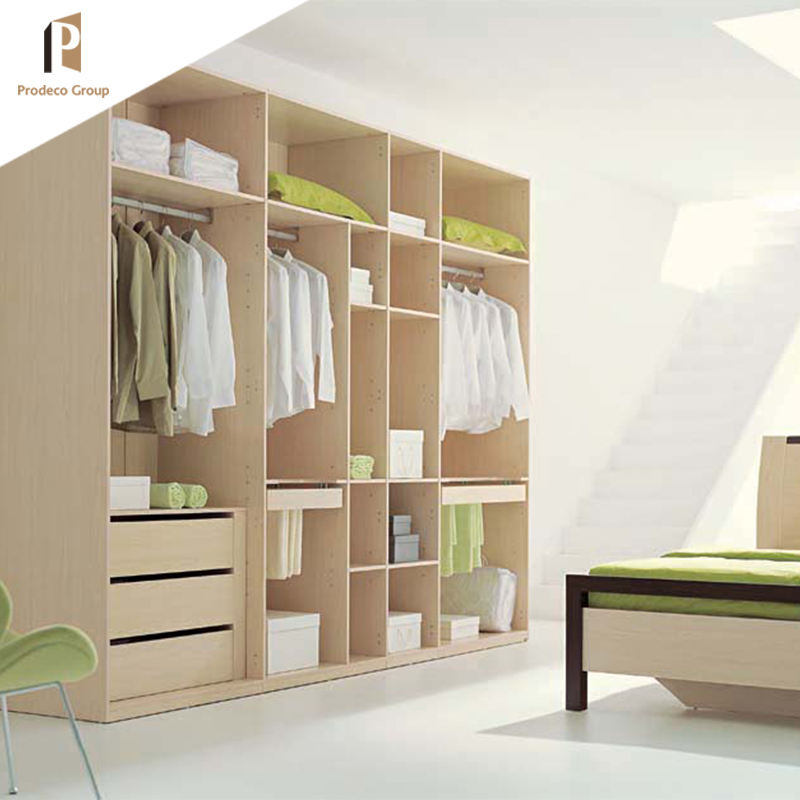 China factory supply finished modern design furniture modular bedroom wardrobe