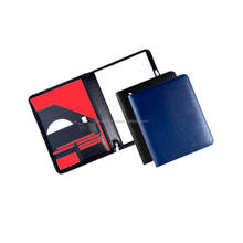 A4 leather folder with pendrive and notepad holder