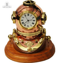 diving helmet copper with watch