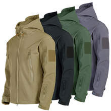 Waterproof Tactical Men's Combat Jacket Coat Army Windbreaker Outdoor Soft Shell