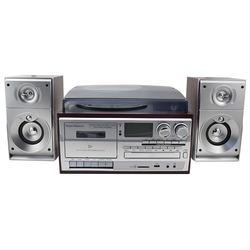Phonograph Music center  VINYL RECORD PLAYER WITH external speakers, CD player, USB SD  Cassette play& record, Radio