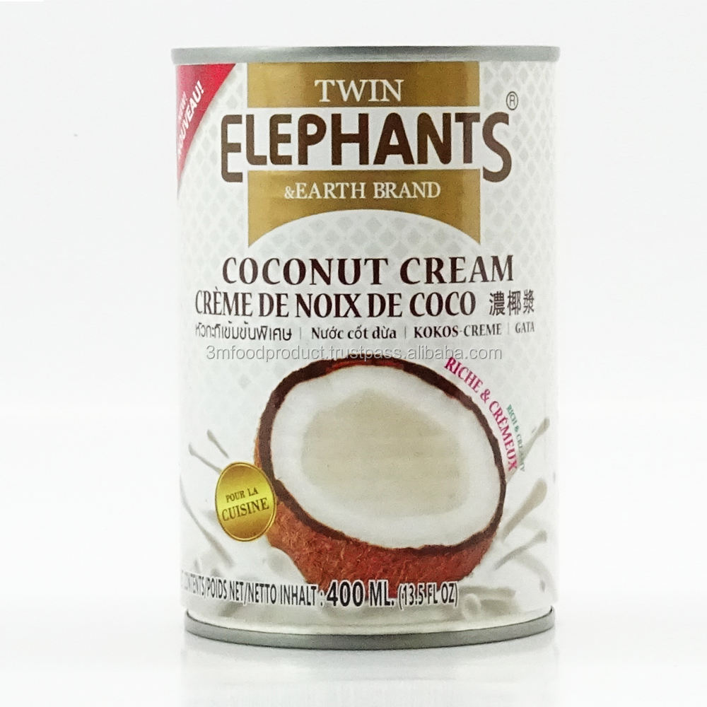 Canned Fresh Coconut Milk (Cream) 100% From Thai Coconut 400 Ml