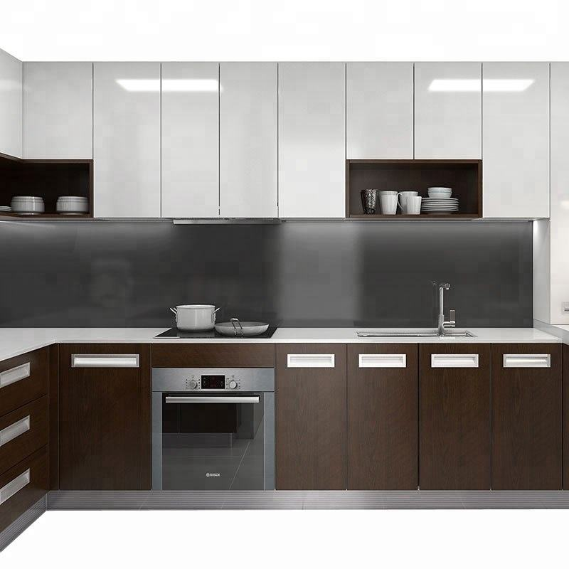 Kitchen Cabinet with Laminate and Melamine Doors