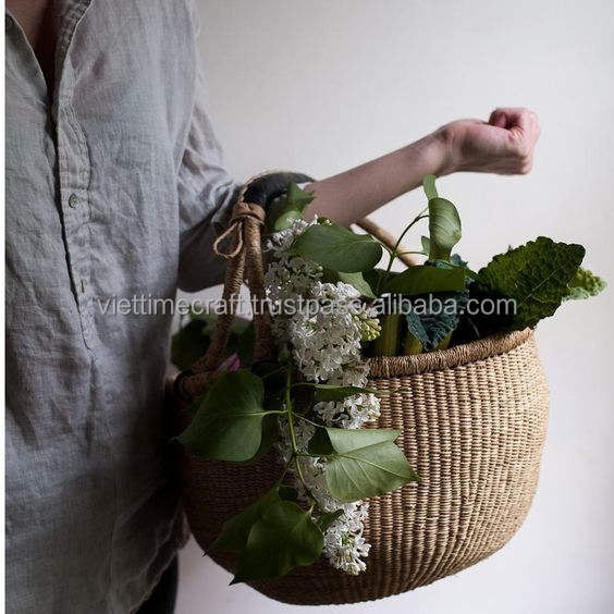 Hotsale seagrass storage basket/Afican basket/ Color seagrass basket