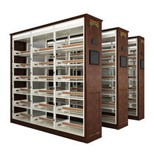 Modern Used Library Furniture Steel Intelligent Sensor With Lamp Bookcases BookShelf Book Shelf