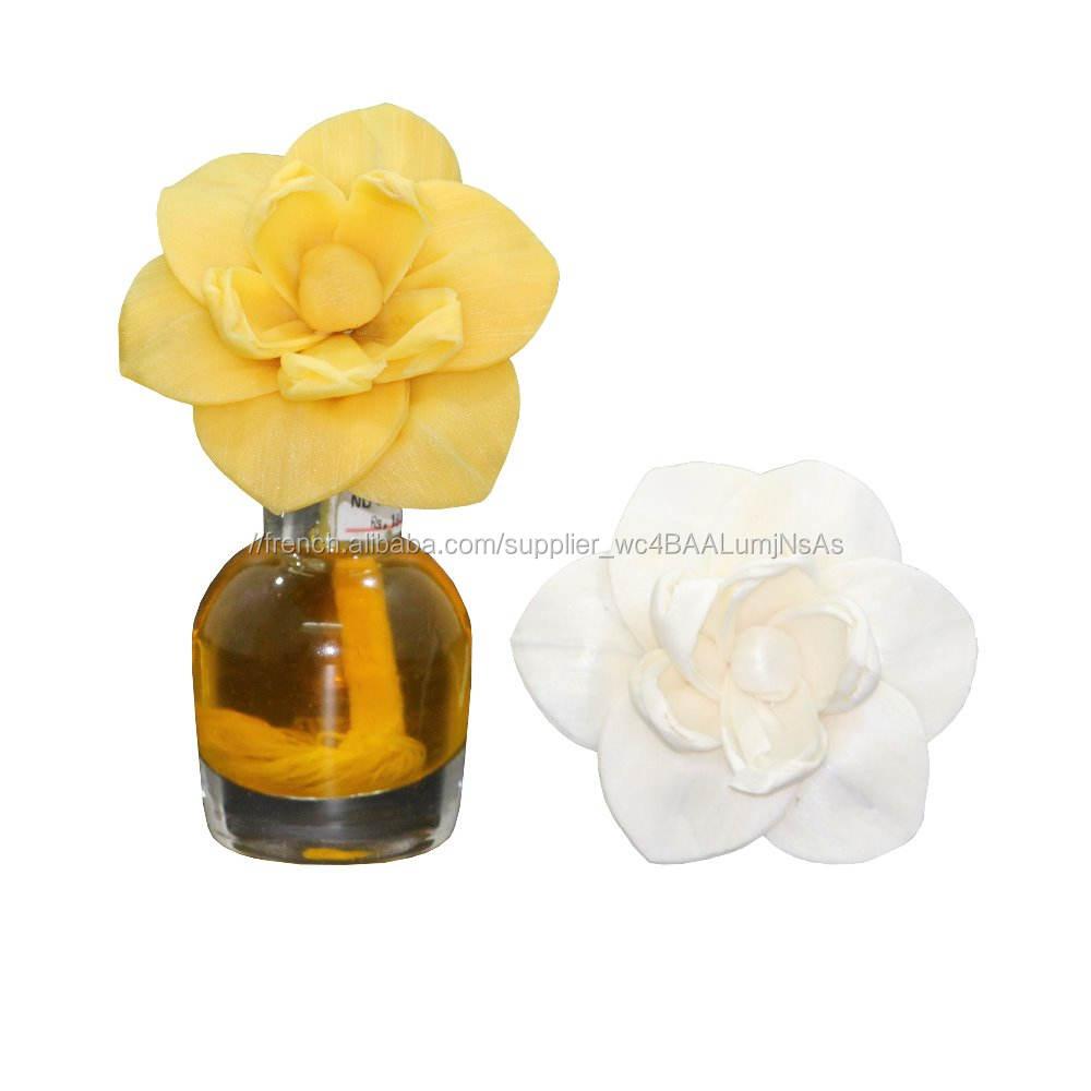 Sola Bois Diffuseur Fleur Avec Mèche de <span class=keywords><strong>Coton</strong></span> Pour La Maison Décoration
