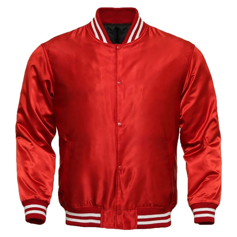 American Letterman Baseball College School Team Satin Varsity Bomber Jacket, Letterman Baseball College Varsity Bomber Super