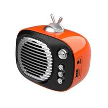 Vintage Style Mini Wireless Portable Usb 3.5MM Speaker Box With Tf Fm Radio