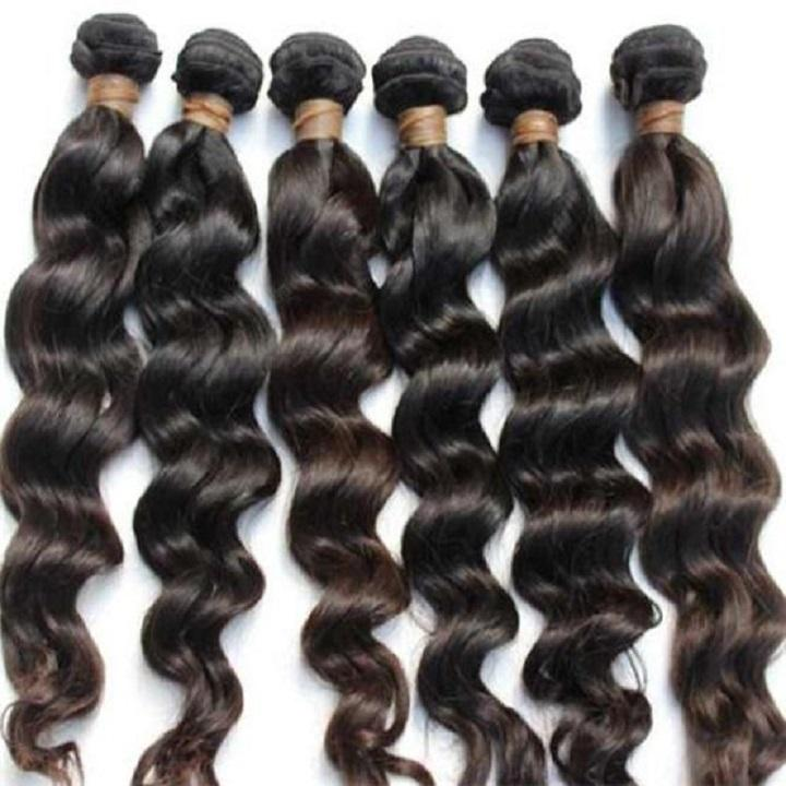 Real raw indian temple hair body wave cuticle aligned human hair from india