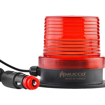 Magnetic Base Nyala Lampu Warning Light 12-24V AC/DC Sinyal Strobe Beacon dengan Lighter dengan buzzer