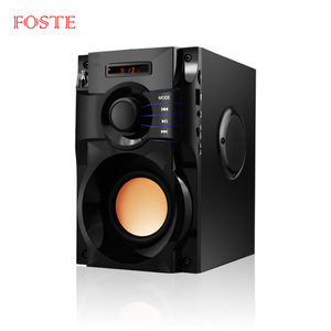 Foste A100 Baru Kotak Suara 3 Speaker dengan Super Suara Stereo Speaker Aktif Amplifier Wireless Bluetooth