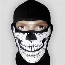 Balaclava Ghosts Skull Full Face Mask/Windproof Ski Mask Motorcycle Face Masks Tactical Balaclava Hood for Men Women Youth Hallo