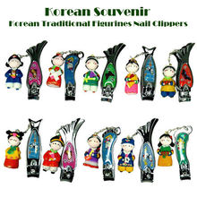 Korean Traditional Figure Color-mix Nail Clippers/Korean folk handicrafts/Korean tourist gifts