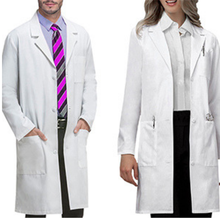 Comfortable 100% cotton Science Medical Lab coat lab coat designs