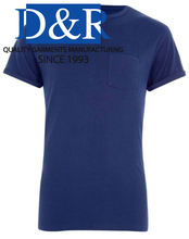 Premium Quality Customized Round Neck Tee Shirt With Pocket OEM