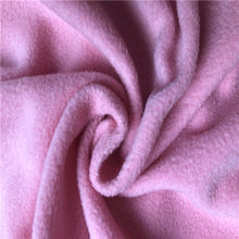wholesale antipilling polar micro fleece fabric solid color for garments