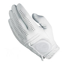 Hiqh Quality Golf Glove Full Leather Color White