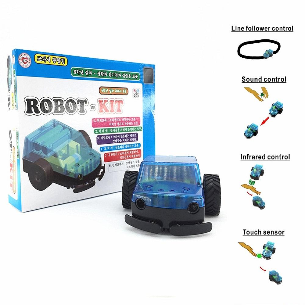 DIY 4 in 1 function electronic robot toys car kits