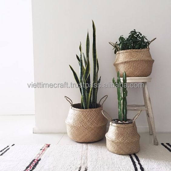 Natural color seagrass baskets/ Seagrass storage baskets/ Luandry baskets