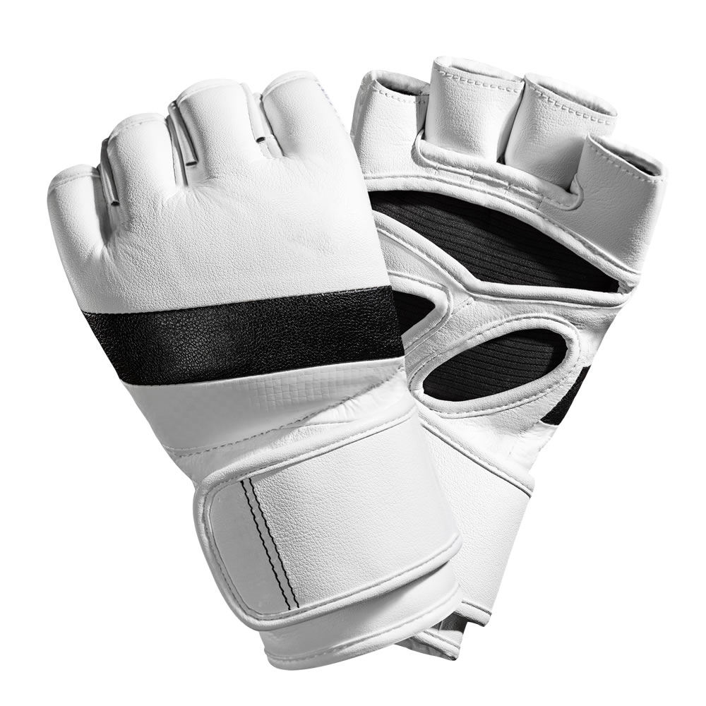 High quality customized cowhide leather PU leather MMA Gloves