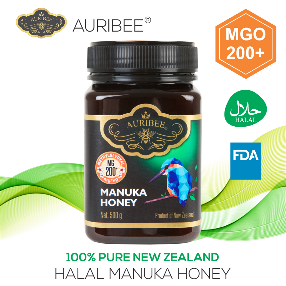 AURIBEE - HALAL Manuka MGO200+ 500g honey Product of New Zealand