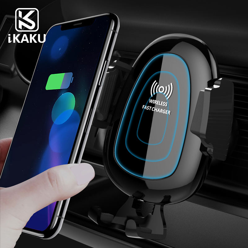 KAKU Usb wireless charger 5v 2a cell 2-in-1 car phone mount magnet holders with magnetism