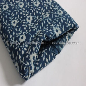 10 Yard Natural Indigo Blue Dye Shibori Printed Cotton Dabu Print Fabric Batik