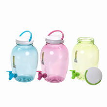 Portable High Quality PET Plastic Drink Dispenser Cold Beverage Water Dispenser Juice Dispenser with Water Tap Beer Tower