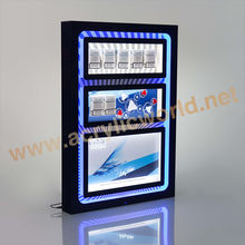 OEM counter acrylic cigarette display/cigarette display shelf with pusher