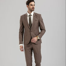 High quality slim %97 cotton %3 spandex blazer with two buttons, formal suits for men