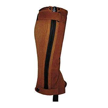 Design for performance and fashion Premium Brown leather Horse Riding Half Chaps