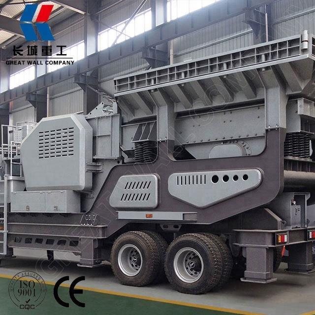 Construction concrete block mobile crusher plant Mobile Crasher for sale