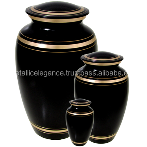 ONYX BRASS CREMATION URN FUNERAL SUPPLIES