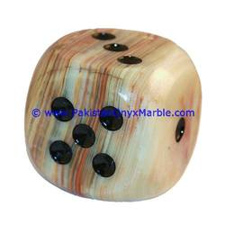 ONYX SOUVENIR PLAYING DICE NATURAL POLISHED STONE SCULPTURE ART DECOR