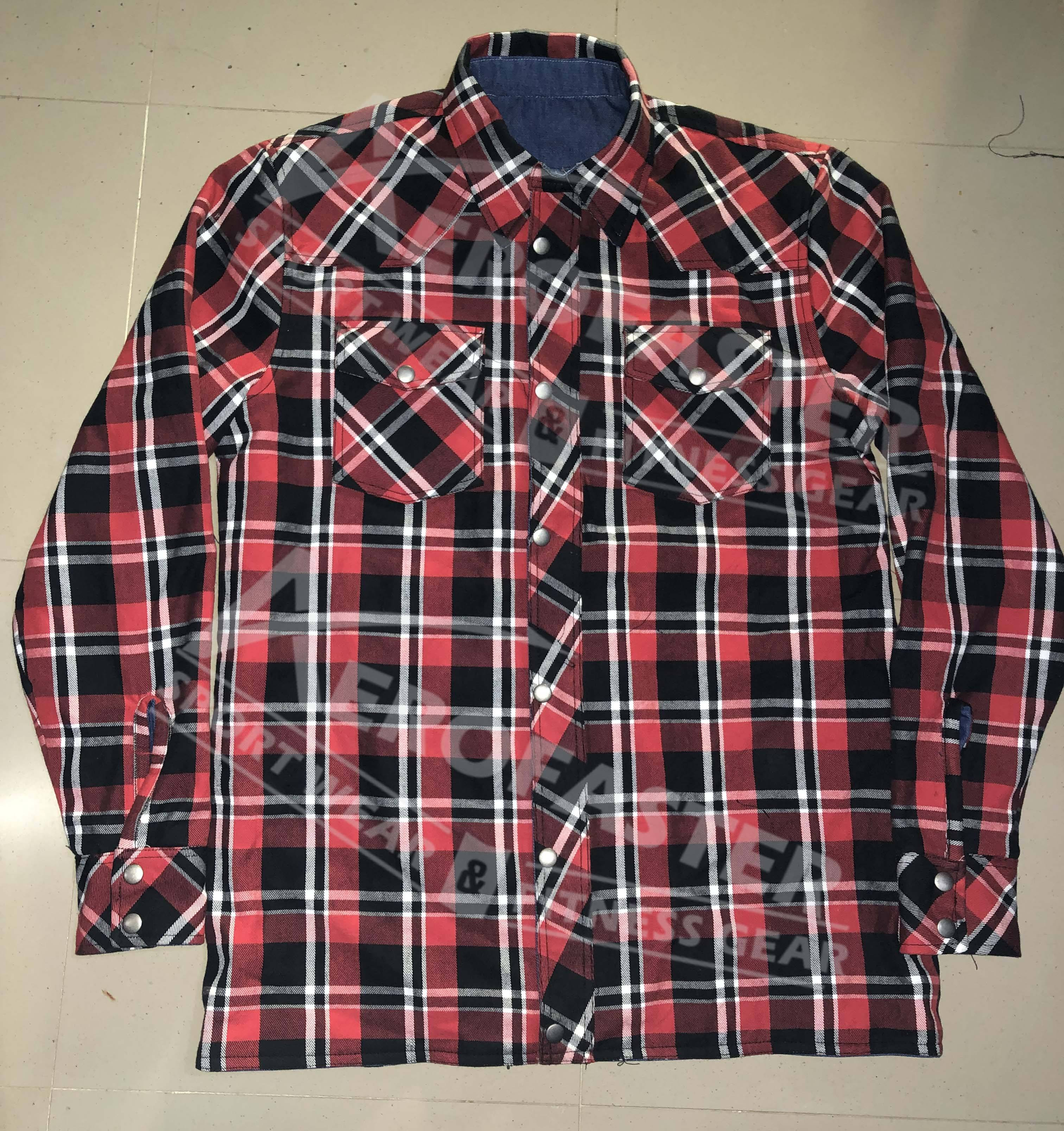 Motor Biker Flannel Denim Shirts