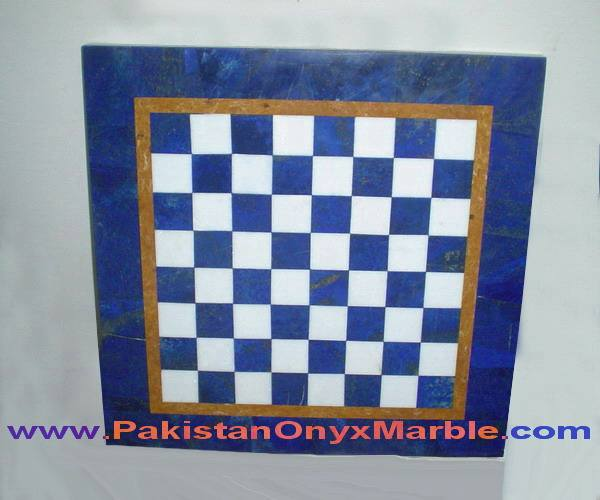 DECORATIVE CHESS SETS LAPIS LAZULI HANDICRAFTS