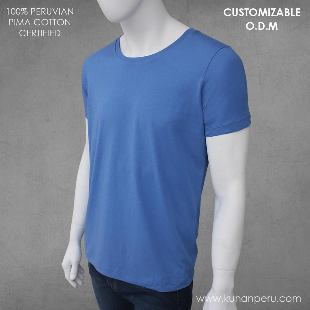 100% peruvian pima cotton t-shirt customizable. ODM SERVICE
